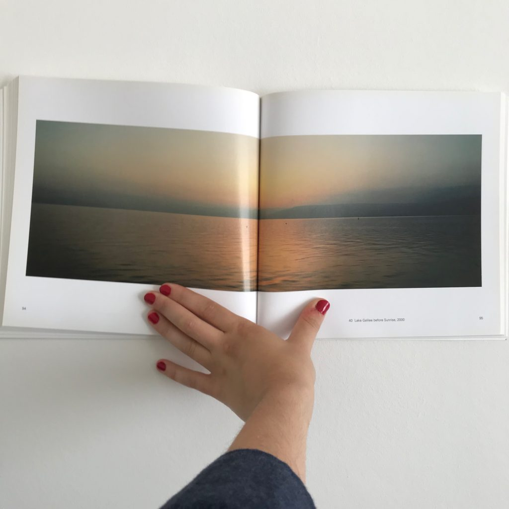 A photograph of 'Lake Gallilee before sunrise, 2000' by Wim Wenders from his book 'Pictures from the Surface of the Earth'.