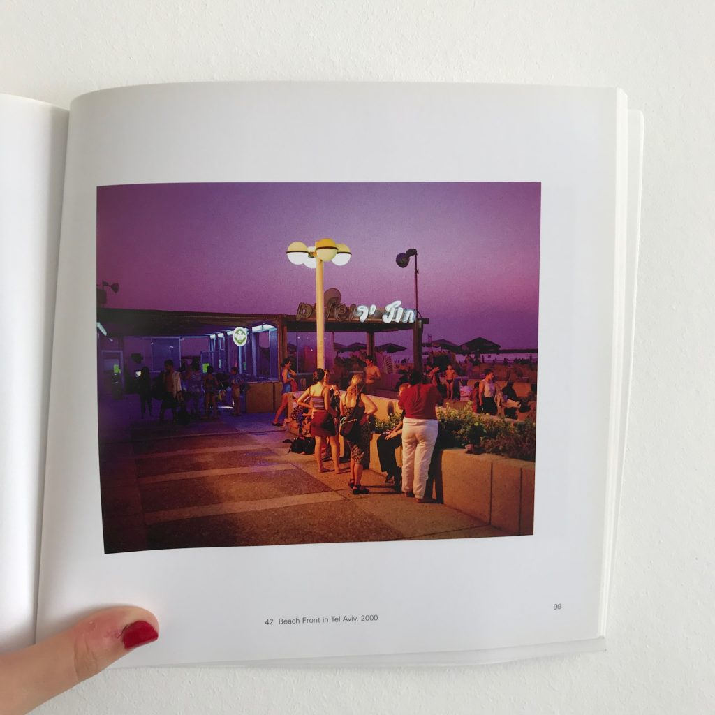 A photograph of a 'Beach Front in Tel Aviv, 2000' by Wim Wenders from his book 'Pictures from the Surface of the Earth'
