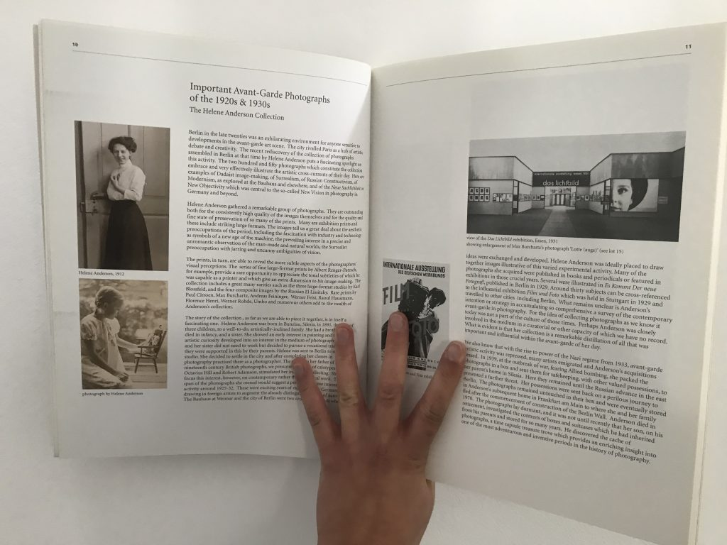 A photograph of the double-page spread in the Sotheby's Helene Anderson Collection auction catalogue.